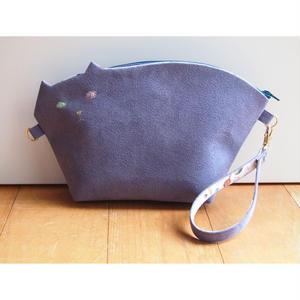 猫のクラッチポシェット2way009号(受注生産)【送料無料】