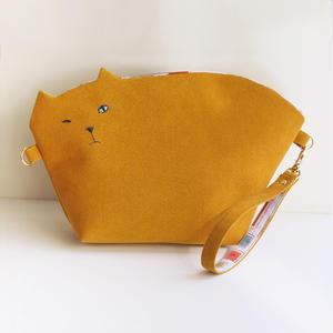 猫のクラッチポシェット2way011号◎送料無料【受注生産】