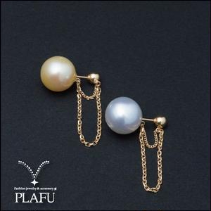 CORON series♥Pearl × Gold  -reversible earrings D