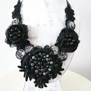 Ribbon necklace-Black-20182