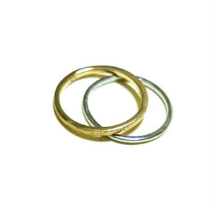 Stardust skinny rings gold×silver 2連