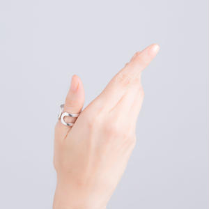 LOOP of the happiness RING-silver-
