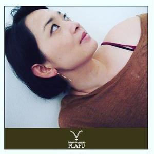 Brass waving earring-ピアス-