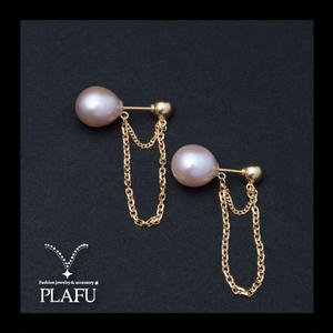CORON series♥Pearl × Gold -reversible earrings B