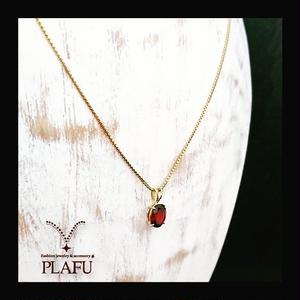 Garnet & 18k necklace -ネックレス-