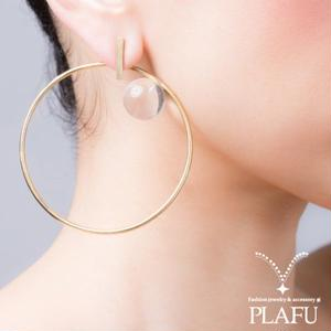 Diamond ring earring ピアス