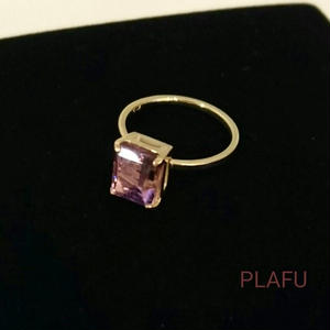 18K Square Jewel ring
