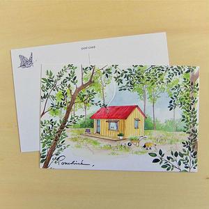 PC07 ポストカード 赤い屋根の家