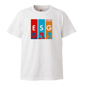 【ESG-step off/イーエスジー-ステップオフ】5.6オンス Tシャツ/WH/ST-068_wh