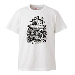 【The Damned-ダムド/5th Anniversary】5.6オンス Tシャツ/WH/ST- 169