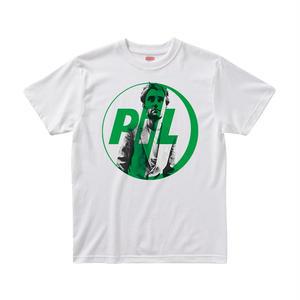 【パブリックイメージリミテッド/Public Image Limited.(PIL)】ジャー・ウォブル  5.6オンス Tシャツ/WH/ST-043_BL