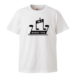 【RADIO SYD/ブライアン・ジョーンズ】5.6オンス Tシャツ/WH/ST-007_bk