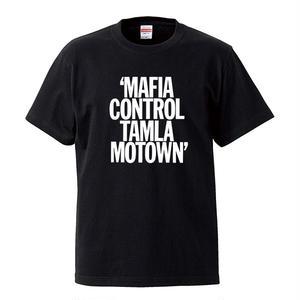 【MAFIA CONTROL TAMLA MOTOWN/タムラ・モータウン】5.6オンス Tシャツ/BK/ST-046_wh