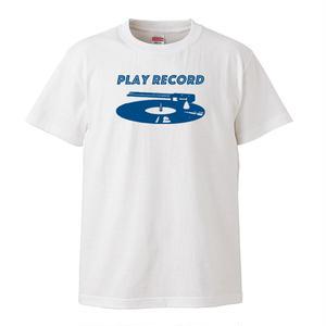 【Play Record/レコードを聴こう】5.6オンス Tシャツ/WH/ST-130