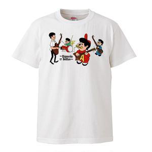 【The Chipmunks-sings the beatles/チップマンクス】5.6オンス Tシャツ/WH/ST- 209