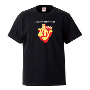 【Super Fly-Curtis Mayfield/スーパーフライ-カーティス・メイフィールド】5.6オンス Tシャツ/BK/ST-070