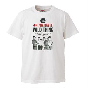 【The Troggs-トロッグス/Wild Thing】5.6オンス Tシャツ/WH/ST- 186