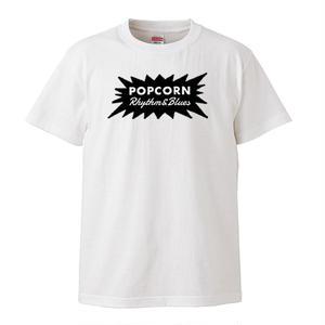 【POP CORN R&B/ポップコーンR&B】5.6オンス Tシャツ/WH/ST-132