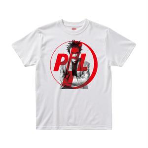 【パブリックイメージリミテッド/Public Image Limited.(PIL)】ジョン・ライドン 5.6オンス Tシャツ/WH/ST-003_RD