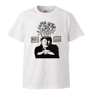 【THE BEATLES /ジョン・レノン】5.6オンス Tシャツ/BK/ST-038_wh