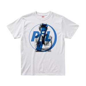 【パブリックイメージリミテッド/Public Image Limited.(PIL)】ジョン・ライドン 5.6オンス Tシャツ/WH/ST-003_BL