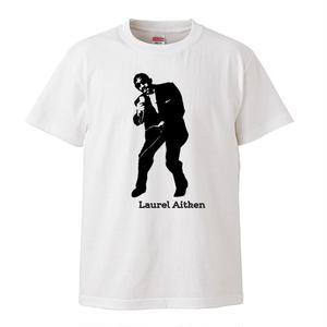 【Laurel Aitken/ローレル・エイトキン】5.6オンス Tシャツ/WH/ST-054_bk