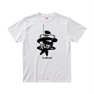 【DR.ROBEATNIK/ビートニクキャラクター】5.6オンス Tシャツ/WH/ST-006_BK