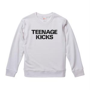 【The Undertones-アンダートーンズ/TEENAGE KICKS】9.3オンス スウェット/WH/SW- 237