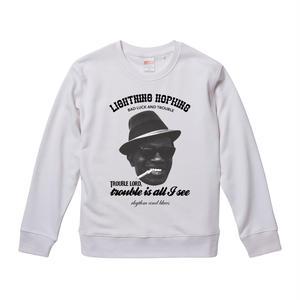 【Lightning' Hopkins-Bad luck and Trouble/ライトニン・ホプキンス】9.3オンス スウェット/WH/SW- 250