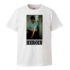 【Heroin/ヘロイン】5.6オンス Tシャツ/WH/ST-131