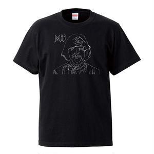 【MIJ(Jim Holmberg)/ジム・ホルムバーグ】5.6オンス Tシャツ/BK/ST-028_wh