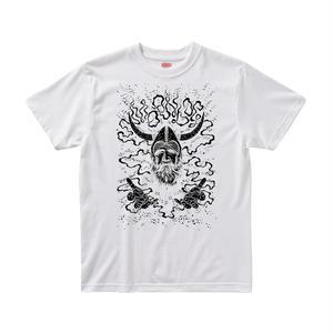 【ムーンドッグ/Moon Dog】5.6オンス Tシャツ/WH/ST-005_BK