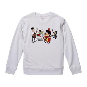 【The Chipmunks-sings the beatles/チップマンクス】9.3オンス スウェット/WH/SW- 209