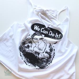 [Ballet Papier] Tie Back Top 'We Can Do It!'