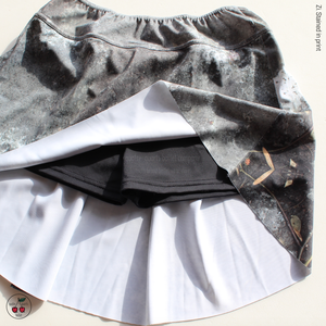 [Zi dancewear] 特別コラボ The Skirt + Shorts Stretch, stained with the print Mud