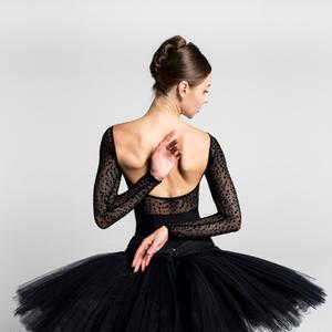 【予約商品】[Ballet Maniacs] Dream Leotard by Kristina Kretova! Black Dots