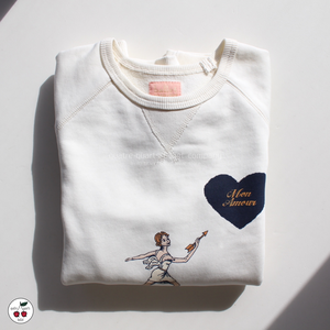 [Ballet Maniacs]  Cupid Sweatshirt 'Mon Amour'