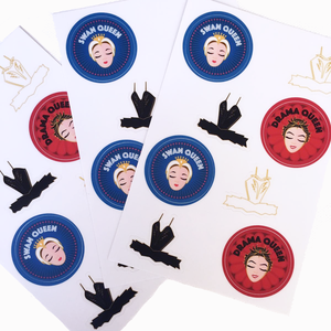 [The Ballet Bag] Set of 8 Swan Lake Stickers