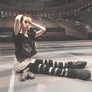 [Ballet Papier] CROPPED T-SHIRT  'BALLET BARCODE'