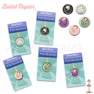 Ballet Papier Pin Badge