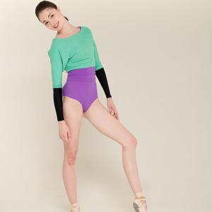 [Zi dancewear] Sweater with colour waist ・2型(予約商品)