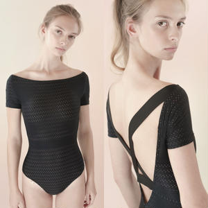 [Just A Corpse] HOLY-MOLY – black cross back leotard