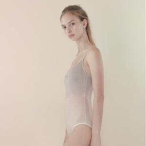[Just A Corpse] COTTON-CANDY – light pink tri-color classic leotard