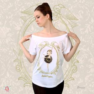 Ballet Papier Loose Fit Style T-shirt 'Black Swan'