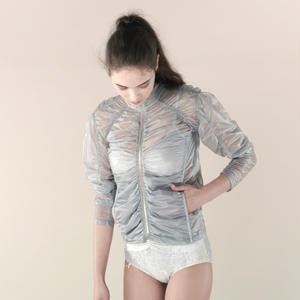 [Just A Corpse]  PARA-CUTE – ice grey draped jacket