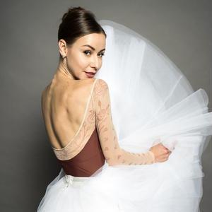 【予約商品】[Ballet Maniacs] Dream Leotard by Kristina Kretova! Brown with Swan Mesh