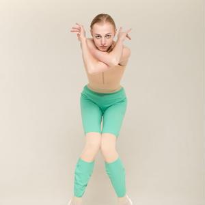 [Zi dancewear] Trousers with colour knee ・2型(予約商品)