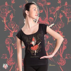 Ballet Papier Low Neckline Style T-shirt 'Kitri'