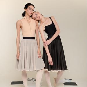 [Zi dancewear] 2-sided rehearsal skirt ・5型(予約商品)