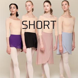 [Zi dancewear] Wrap skirt ・S丈:4型